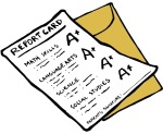 Clipart, report card