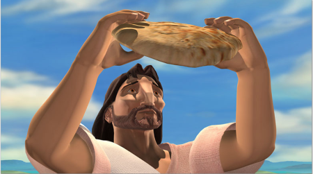 Jesus and the bread